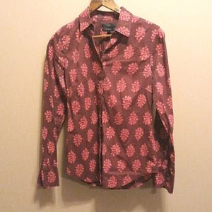 J crew perfect floral button down